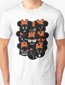 Minnie Emoji's Assortment - Orange T-Shirt