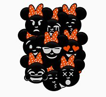 Minnie Emoji's Assortment - Orange Womens Fitted T-Shirt