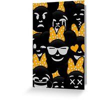 Minnie Emoji's Assortment - Yellow Greeting Card