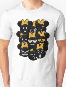 Minnie Emoji's Assortment - Yellow T-Shirt