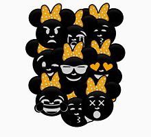 Minnie Emoji's Assortment - Yellow Womens Fitted T-Shirt
