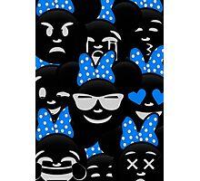Minnie Emoji's Assortment - Blue Photographic Print