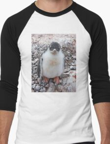 "Gentoo Penguin Chick ~ ""My life's goal....to grow into my feet!"" Men's Baseball ¾ T-Shirt"