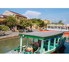 Hoi An Vietnam Tourist Boats Photographic Print