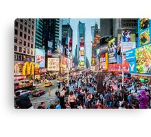 Times Square Tourists (eh) Canvas Print