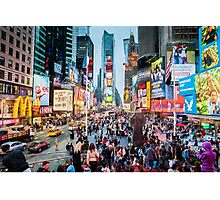 Times Square Tourists (eh) Photographic Print