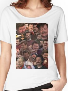 RON SWANSON'S FACES Women's Relaxed Fit T-Shirt