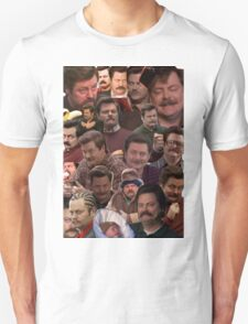 RON SWANSON'S FACES Unisex T-Shirt
