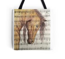 Bowing Horse Head Tote Bag