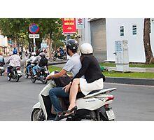 Lovers Commute Vietnam Photographic Print