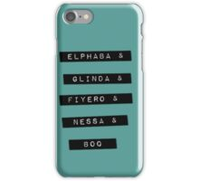 Wicked Characters iPhone Case/Skin