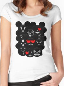 Micky Emoji's Assortment  Women's Fitted Scoop T-Shirt