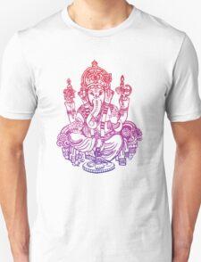 Ombre Indian Ganesh Elephant T-shirt Unisex T-Shirt