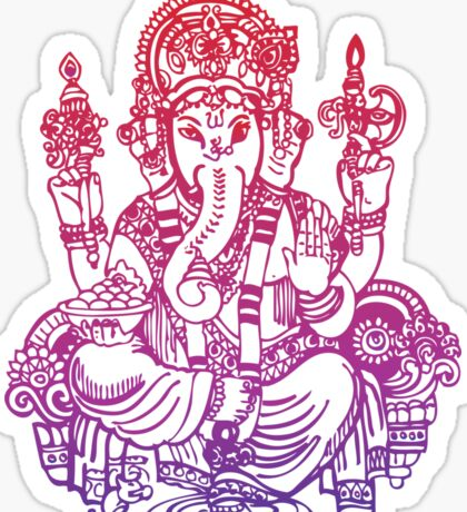 Ombre Indian Ganesh Elephant T-shirt Sticker