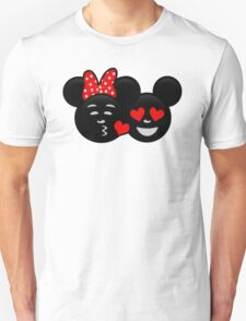 Micky & Minnie Emoji - Kiss  T-Shirt