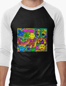 Mardi Gras Collage Men's Baseball ¾ T-Shirt