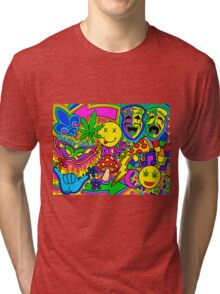 Mardi Gras Collage Tri-blend T-Shirt