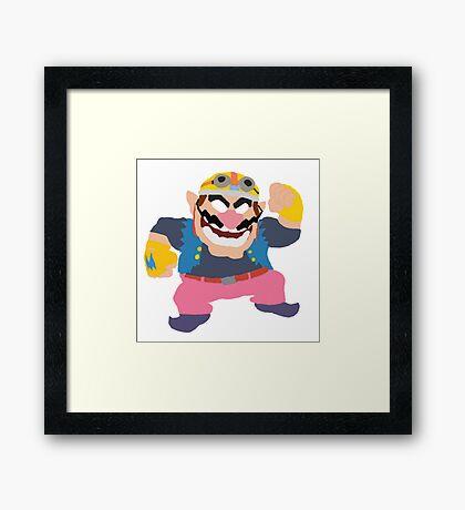 Simplistic Wario Super Smash Bros  Framed Print