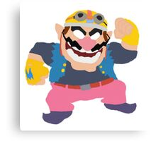 Simplistic Wario Super Smash Bros  Canvas Print