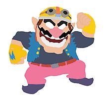 Simplistic Wario Super Smash Bros  Photographic Print