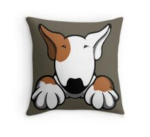 I Want Something Bull Terrier Brown & White Throw Pillow