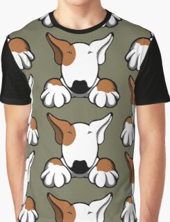 I Want Something Bull Terrier Brown & White Graphic T-Shirt