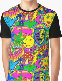 Mardi Gras Collage Graphic T-Shirt