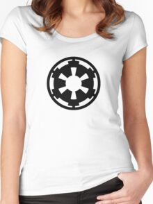 Galactic Empire (black) Women's Fitted Scoop T-Shirt