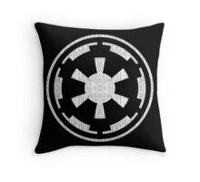 Galactic Empire (white, distressed) Throw Pillow