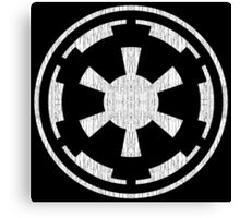 Galactic Empire (white, distressed) Canvas Print