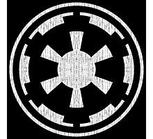 Galactic Empire (white, distressed) Photographic Print