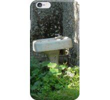 Abandoned sink in abandoned garage iPhone Case/Skin