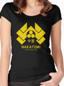 Nakatomi Corporation Women's Fitted Scoop T-Shirt