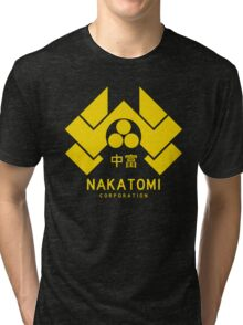 Nakatomi Corporation Tri-blend T-Shirt
