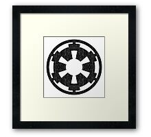 Galactic Empire (black, distressed) Framed Print