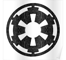 Galactic Empire (black, distressed) Poster