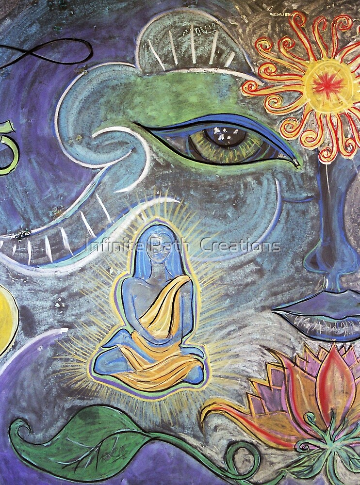Babaji 3 (from Chalk Meditation #4) August 2004 by Infinite Path  Creations