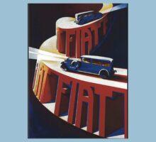Vintage poster - Fiat Kids Tee