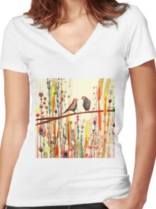 the gypsies Women's Fitted V-Neck T-Shirt