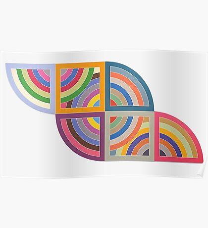 Frank Stella Protractors Poster