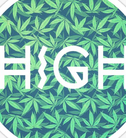 HIGH TYPO! Cannabis / Hemp / 420 / Marijuana  - Pattern Sticker