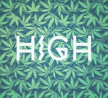 HIGH TYPO! Cannabis / Hemp / 420 / Marijuana  - Pattern by badbugs