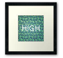 HIGH TYPO! Cannabis / Hemp / 420 / Marijuana  - Pattern Framed Print