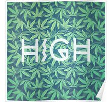 HIGH TYPO! Cannabis / Hemp / 420 / Marijuana  - Pattern Poster