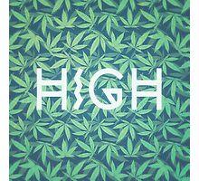 HIGH TYPO! Cannabis / Hemp / 420 / Marijuana  - Pattern Photographic Print