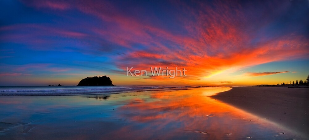 pre dawn inkblot - revisited by Ken Wright