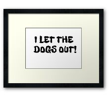 Animal Rndom Cool Music  Framed Print