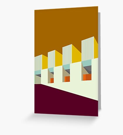 Modernist Architecture  Greeting Card