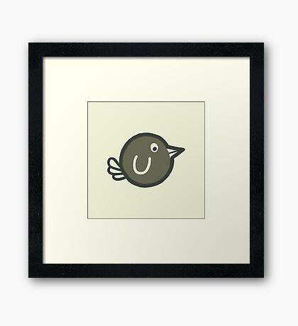 Flying Brown Bird! Framed Print