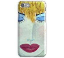 Woman with Sunlit Hair iPhone Case/Skin